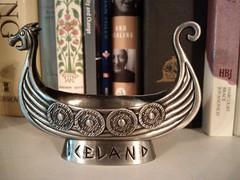 "Travel Series: Iceland:  ""Viking ship souvenir"" (Ken Whytock) Tags: travel ship metal souvenir viking vikingship trinket"