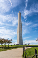 Washington Monument USA American Landmark Outdoors Blue Sky Clouds Daylight Architecture Obelisk (HunterBliss) Tags: america american architecture attraction blue building capital city columbia column dc democracy district famous federal flags high historic horizontal independence landmark mall marble memorial monument national obelisk outdoor patriotic patriotism sculpture sights sky states sunlight sunset symbol touristic tower town travel united us usa washington white