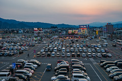 Car Parking (This is not a photo.) Tags: car parking iwate japan tohoku sony 1635mm zeiss sonnar fullframe evening twilight cold cityscape scenery asia country countryside