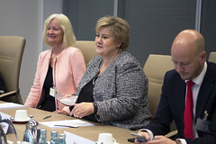 08 November 2016 Visit of the Norwegian Prime Minister (European Central Bank) Tags: europeancentralbank ecb mariodraghi norwegian prime minister norway erna solberg