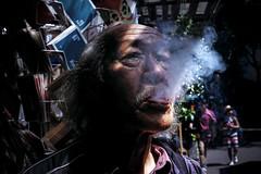 Smoke [EXPLORED] (-clicking-) Tags: streetphotography streetlife streetportrait smoke smoking life dailylife oldman old oldtime oldage eld elderly eldportrait elderlyportrait emotion saigon vietnam