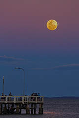 Supermoon rising over Wellington Point (Fear_Through_The_Eyes) Tags: moon landscape wellingtonpoint queensland australia
