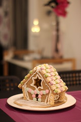Gingerbread House (Attolrahc) Tags: canoneos60d canon eos 60d canonef50mmf14usm christmas christmasdecoration home homedecoration indoor dof bokeh gingerbread house gingerbreadhouse