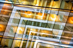 Gravity is working against me (OR_U) Tags: 2016 oru uk london johnmayer kingsplace architecture abstract ceiling glass reflection sliderssunday hss yellow windows composite photoshopped