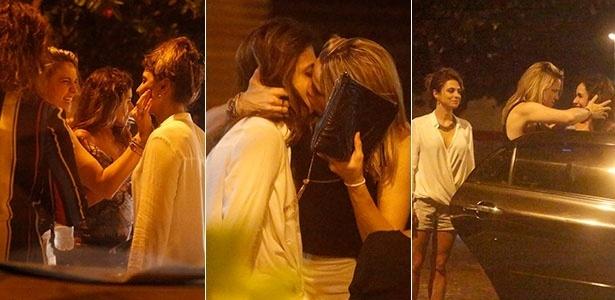 Fernanda Gentil comemora 30 anos com beijão na namorada