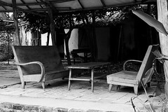 abandoned parlour (hydRometra) Tags: parlour salotto countryside 35mm indocina travel rurallife asia campagna bn indochina catba vietnam bw viaggio