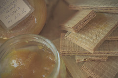 Sweet and hot (Jarek Jahl) Tags: sweet hot habanero orange mango homemade connection wafers combination pairing foodpairing jam preserves spicy culinary art