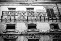 Balcony (petia.balabanova(tnx for +2 million views)) Tags: architecture balcony building strange monochrome blackandwhite bw palermo italy sicily travel nikond800 2470mm city