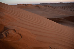 <3 (dive-angel (Karin)) Tags: heart herz desert wste dne dune landschaft oman emptyquater sunrise sonnenaufgang eos5dmarkii 2470mm rubalkhali