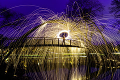 In Honor of Spacebound - Explored (Sharky.pics) Tags: spacebound december usa wisconsin unitedstatesofamerica steelwool madison 2016 longexposure tenneypark night unitedstates us