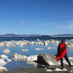 Mono Lake vibes (seanflannagan) Tags: monolake lake sodalake ancient tufa rock formations california larkin poncho easternsierras pigtails barefoot mud
