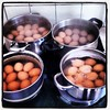 So many eggs! Boiling for the Enspire EASTER EGGStravaganza at Slieve Gullion tomorrow! Over 100 people!!!!