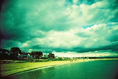(james_whitty) Tags: camera sea sky cloud film beach 35mm toy lomo xpro lomography slim cross boots wide slide 200iso iso plastic 200 dorset process viv vivitar processed ultra poole uws lomographic 22mm tumblr