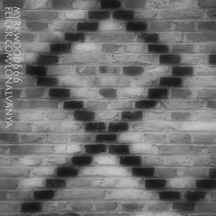 Othala ᛟ (Myrkwood666) Tags: bw monochrome blackwhite symbol zwartwit sw schwarzweiss pagan rune ethel futhark asatru odal othala seelenwinter mørkskygge myrkwood666