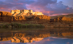 Green River, Utah (Roland Taylor) Tags: sunset sky reflection water clouds river utah cliffs greenriver roland taylor rolandtaylorcom rolandtaylor ayrphotoscontestclouds ayrphotoscontestfarhorizont yrphotoscontestfarhorizont