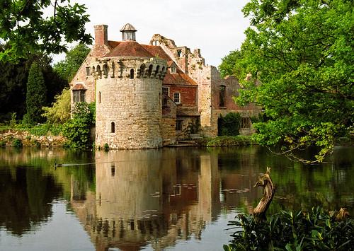 Scotney Castle Landscape Gardens, Kent, UK | Tranquil reflection of castle ruins in lake (14 of 16)