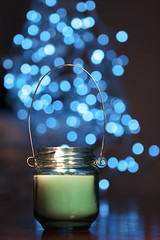 Blue (Serena178) Tags: blue fire candle bokeh flame