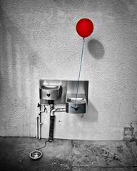 Waiting For You (JeezyDeezy) Tags: waterfountain drinkingfountain 2012 bubbler week24 522012 52weeksthe2012edition weekofjune10 getpushedgetpushedround23balloonredcitystreetconcretegrey