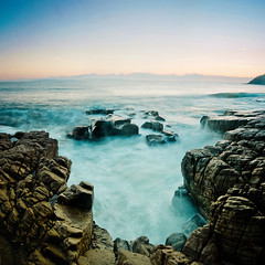 Cool, Calm and Collected (Matthew Post) Tags: longexposure seascape beach sunrise nationalpark rocks australia queensland slowshutterspeed sigma1020mm canon60d treebay