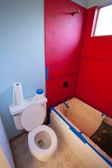 Paint 4104 (PKMousie) Tags: blue red canon bathroom eos plastic tub bathtub renovation renovate tubs waterproof bathtubs plastics 5dmarkii 5dii redgard