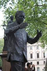 Statue of Nelson Mandela, Parliament Square - City of Westminster, UK 2011 (Moocha) Tags: city uk england westminster statue square britain african south president politics parliament nelson mandela
