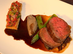 Chef Nigel Haworth's dish at Nigel Haworth's Fantastic Food Show - 1 (Tony Worrall Foto) Tags: show uk england food man celebrity art cooking make fun demo design tv northwest jus sauce north cook restaurants tasty eaten meat event foodporn chef eatme lamb plates taste posh cooked venue veg celeb nigel foodart michelin grub reviews iatethis eatingout foodie asl chefs haworth foodphotography taster plateart celebritychefs platesoffood nigelhaworthsfantasticfoodshow 2013tonyworrall