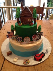 70th birthday with memorabilia (Creative Cakes by Allison) Tags: house mountain image celebration edible