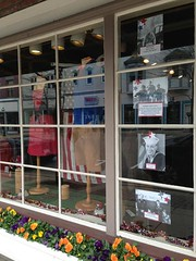 Very cool Memorial Day display at Bearcub Outfitters in Petoskey - nice salute to veterans! (maxwellandmiller) Tags: mi michigan harborsprings boyne petoskey bayharbor alanson petoskeyarea