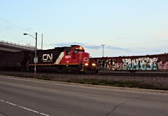 IC 9571 (L595) (SW Rail Photos) Tags: train ic motionblur gp382 illinoiscentral l595 neenahsub localfreight neenahyard