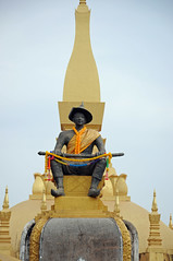 Pha That Luang (ollygringo) Tags: city travel tourism statue architecture temple asia southeastasia stupa buddhist capital buddhism laos vientiane phathatluang