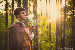 Hobbit (LaFever Photography) Tags: sunset forest woods smoke pipe creative dream lotr imagination arkansas shire hobbit tobacco sunkissed tobaccopipe