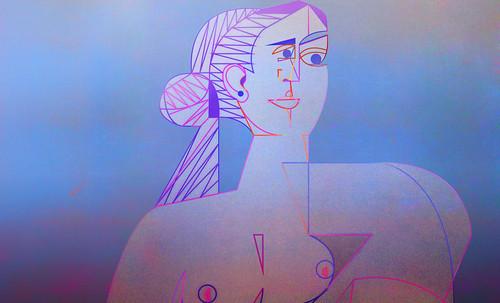 "Mujer Sentada, geometrización de Pablo Picasso (1953), abstracción de Roberto Real de León (2013). • <a style=""font-size:0.8em;"" href=""http://www.flickr.com/photos/30735181@N00/8805346887/"" target=""_blank"">View on Flickr</a>"