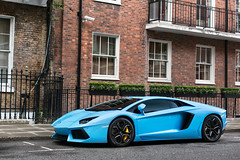 Baby Blue. (Alex Penfold) Tags: lamborghini aventador baby blue lambo lp 700 lp700 light london v12 avt v12avt mayfair supercar supercars car cars alex penfold