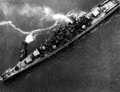 Aerial view USS Baltimore