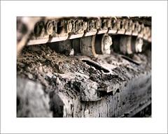 Excavator II (Christa (ch-cnb)) Tags: norway norge rocks stones olympus pebbles dirt photowalk tread trondheim sørtrøndelag zuiko japanphoto e5 excavator trøndelag 2013 nasjonal zd50mm artfilter dramatictone fotovandring