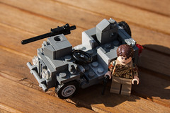 WWII SAS Jeep (zalbaar) Tags: world 2 war lego jeep ww2 british sas customs brickarms zalbaar