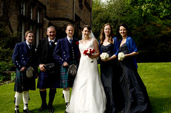 0036thegroupof6 (PauSmithPhotography) Tags: uk greatbritain wedding zoo scotland edinburgh marriage brideandgroom scottishwedding happyday manorhousezoo