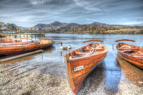 Boats And Geese On Derwentwater.