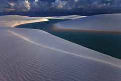 Metallic Dunes by Michael Anderson (AndersonImages) Tags: sunset brazil white beach brasil sand metallic sanddunes lencoismaranhenses michaelanderson