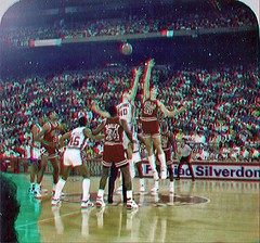 Opening tip Bulls at Pistons copy (lpeters199) Tags: basketball 3d anaglyph