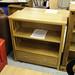 Ash veneer low bookcase