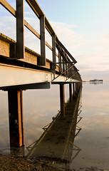 "The Golden Hour_DSF7904 (jonwaz) Tags: ocean light sea sky reflection beach clouds golden evening pier skåne sweden postcard south sound boardwalk sverige wishyouwerehere ""the bjärred southernsweden light"" ""golden hour"" jonwaz"