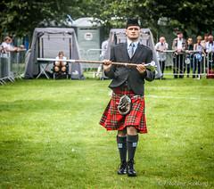 Drum Major (FotoFling Scotland) Tags: 2012 drummajor glasgow glasgowgreen scotland worldpipebandchampionships kilt scottish