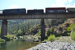(huntingtherare) Tags: railroad trestle bridge train bench graffiti vacant freight rollingstock benching