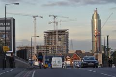 Nine Elms Lane -- Riverlight u/c (stevekeiretsu) Tags: road people london cyclist shard ssc stgeorgetower