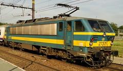 NMBS Electric locomotive N° 2737. (Franky De Witte - Ferroequinologist) Tags: de eisenbahn railway estrada chemin fer spoorwegen ferrocarril ferro ferrovia дорога 鉄道 железная 铁路 철도