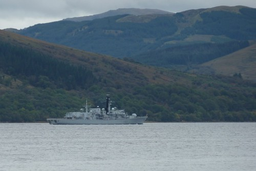 HMS Somerset in Loch Fyne 5 October