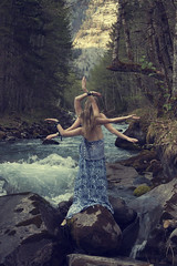 River Nymph (harriet.bols) Tags: trees mountains girl river rocks arms evolution growth limbs creature nymph alevel brookeshaden