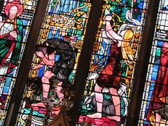 Coventry - St John the Baptist (pefkosmad) Tags: uk england church window architecture catholic interior stainedglass altar coventry chancel sanctuary warwickshire adamandeve churchofengland parishchurch stjohnthebaptist reredos eastwindow
