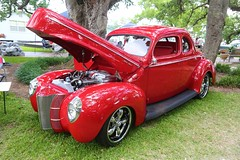 1940 Ford 2dr Deluxe (Bill Jacomet) Tags: door red 2 two ford club texas yacht dr deluxe tx wheels 1940 and 40 lakewood seabrook keels 2015 2dr